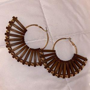 Aldo Isudia Pierced Earrings- Brown